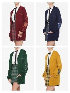 HARRY POTTER OVERSIZED CARDIGAN SLYTHERIN GRYFFINDOR HUFFLEPUFf Sweater HOGWArts