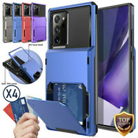 For Samsung Galaxy S20 Ultra Holder Slot Wallet Hybrid Hard Card Case Cover
