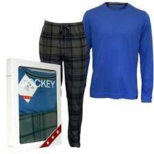 Jockey Long-Sleeve T-Shirt & Bottoms Jersey Men's Pyjama Set, Blue/Grey