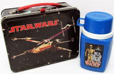 1977 20TH CENTURY FOX VINTAGE STAR WARS METAL LUNCH BOX & THERMOS !