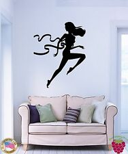 Wall Stickers Vinyl Decal Woman Jogging Running Fitness For Living Room  (z1703)