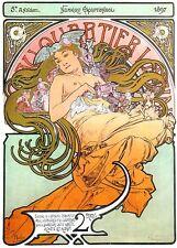 Au Quartier Latin Alphonse Mucha Print Art Nouveau Deco Nude Picture Poster