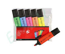 6 Pack of Premium Quality 5* Dataglo Highlighter Pens - 6 Assorted Colours