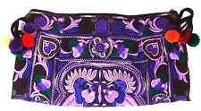 Handmade Thai Hmong Tribal Ethnic Embroidered Tote Shoulder Bag Handbag Purse B1