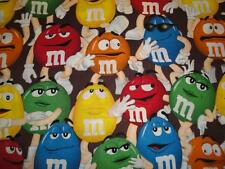 M&M'S Stacked On Chocolate Background By Springs Industries-Fat Quarter