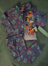 NEW-Girls-1D-One-Direction-Size-Small-Pajama-Set-Purple-Long-Sleeves-Long-Pants
