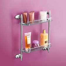 Double Glass Shelf Fabulous Fang Chrome Bathroom Accessory