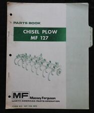 1971 MASSEY FERGUSON MF 127 CHISEL PLOW PARTS CATALOG MANUAL NICE