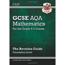 New GCSE Maths AQA Revision Guide: Foundation - For the Grade 9-1 Course (with Online Edition) by CGP Books (Paperback, 2015)