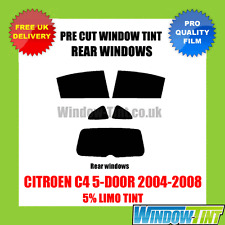 CITROEN C4 5-DOOR 2004-2008 5% LIMO REAR PRE CUT WINDOW TINT
