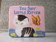 vintage SHY LITTLE KITTEN sealed lunch box tin w candy FULL golden books