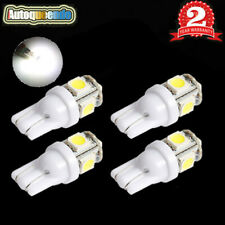 4x Pure White T10 168 194 5050 5SMD LED Interior Dome Map License Light Bulb