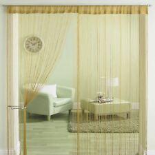 Classic Cream String Tassle Panel Divider Screen Window Door Curtain 90x200cm