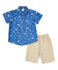 Boys Chambray Shirt & Shorts Set
