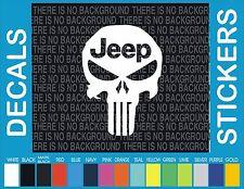 "5"" Jeep Punisher Truck Car window car truck decal sticker"