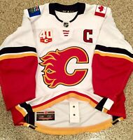 Calgary Flames Mark Giordano Game Worn 2020 Playoff Bubble Away Jersey Adidas