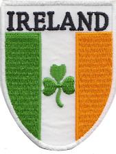 Ireland Irish Shamrock Shield Flag Embroidered Patch