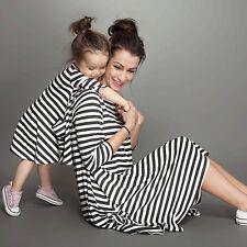 Summer Family Clothes Mother Daughter Beach Dresses Womens Kids Girls Long Dress