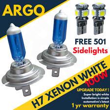 H7 100w Xenon Super White Bulbs 8500k X2 Pair 501 5 Smd Led Canbus Sidelight Set