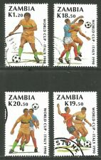 Zambia 1990 World Soccer Championships--Attractive Topical (507-10) fine used