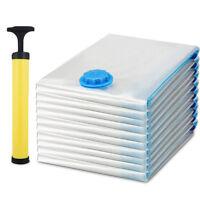 15pcs 6 Sizes Compressed Vacuum Seal Space Saver Storage Bags Organizer Durable