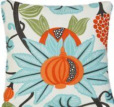 "Orange Blue Cushion Cover Osborne & Little Pomegranate Maharani Fabric Linen 16"""