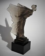 Tolle Glasskulptur, Nachtfallter/ Night Butterfy, Antikgraue Glasfarbe, rares St