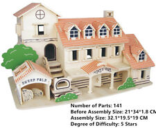 New Assembly DIY Education Toy 3D Wooden Model Puzzles Of Holiday Villa House