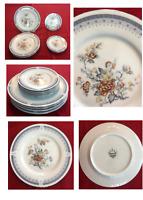 VINTAGE Ranmaru Fine China Dinnerware IMPERIAL GARDEN 8-Piece Set Peking China