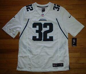 Nike Jersey Football Jaguars NFL L 32 Jones-Drew White Black Teal Trim c1041