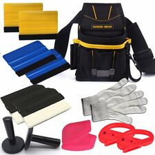 Pro Car Squeegee Vinyl Wrap Tools Kit Combo Razor Snitty Cutter Magnets Bag Set