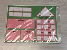 (10) Fact Family - Math Work Mats - Teaching Supplies - dry erase - write-n-wipe