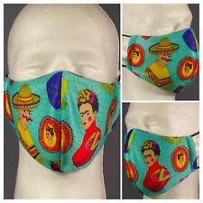 New Digitally Printed Frida Kahlo Washable Double Layered Adult Face Mask.