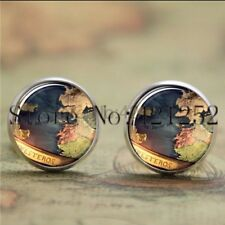 Earrings Glass Silver Game Of Thrones Map New & Sealed