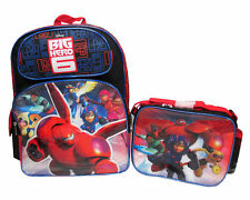 """Disney Big Hero 6 Large 16"""" backpack & Lunch Box - Brand New - Licensed Product"""
