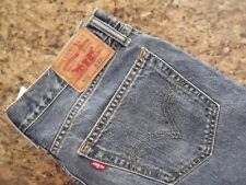 LEVI'S 505 STRAIGHT FIT RED LABEL DENIM JEANS - 34W - MISMARKED SIZE