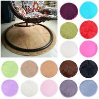 Circle Round Soft Shaggy Rug Kids Living room Bedroom Carpet Floor Fluffy Mat NO