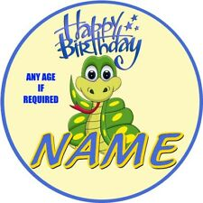SNAKE CHILDRENS PERSONALISED NAME SNAKE CHILDRENS BIRTHDAY BADGE ** PARTY