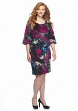 NWT GABBY SKYE BLUE PINK FLORAL SHEATH DRESS SIZE 14 W 24 W WOMEN $98