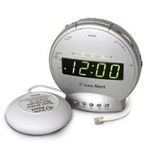 Sonic Alert Sonic Boom Alarm Clock w Bed Shaker & Telephone Signaler SA-SBT425SS