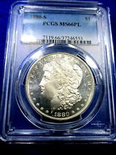 "1880-S MORGAN DOLLAR PCGS MS66 PROOF LIKE FROSTY CAMEOS ""LOOKS DMPL"" PQ++"