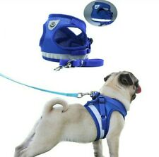 Dog Harness with Leash Set Pet Adjustable Reflective Vest For Small Medium Dog
