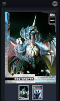 Godzilla Topps NFT Series 1 Uncommon Blue Destoroyah Mint #878/2676