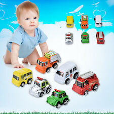 6pcs Mini Plastic Pull Back Running Car Vehicle Model Toy For Kids Baby Boy Girl