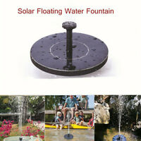 Solar Panel Power Submersible Fountain Pool Pond Garden Round Water Pump Kit