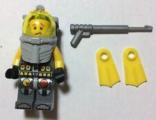 LEGO Minifigures Figurine PLONGEUR avec Harpon Technic 2 Visages