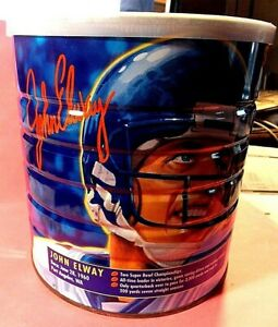 JOHN ELWAY STAR QUARTERBACKS 34.5 oz. MAXWELL HOUSE COFFEE TIN (EMPTY)