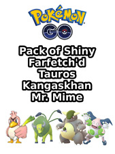 Pokemon Go ✨ SHINY Farfetch'd Tauros Kangaskhan Mr. Mime Catch 🔥 Canarticho