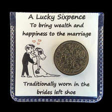 Wedding Lucky Sixpence Bride's Shoe Gift Keepsake ** Free Delivery **