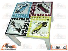 """TABLE (55x55cm, H=45cm) de jeu 2 """"petits"""" CHEVAUX (Citroen 2CV)  -9650-"""